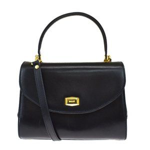 Authentic BALLY 2Way Shoulder Hand Bag Leather